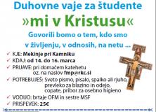 Duhovni vikend za študente 2014