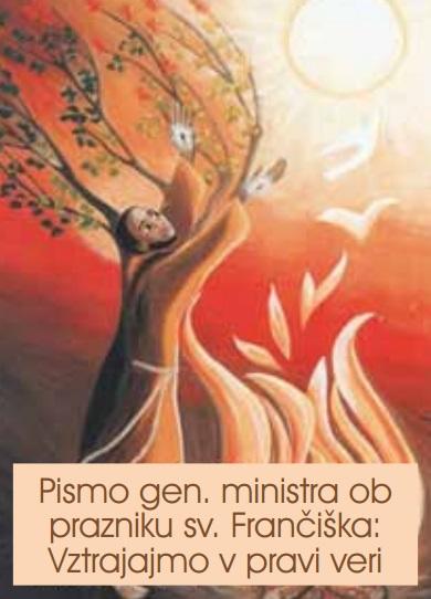 Pismo generalnega ministra ob prazniku sv. Frančiška 2013